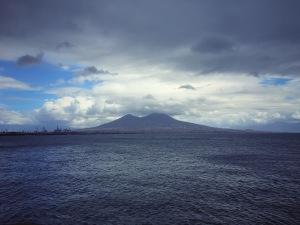 Veduta di napoli - Vesuvio
